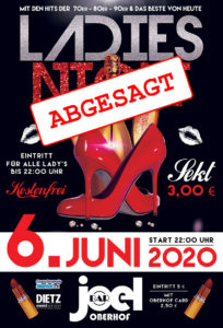 Ladies Night abgesagt
